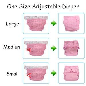 Image 3 - 50 шт., многоразовые подгузники для младенцев, с мультяшными листьями