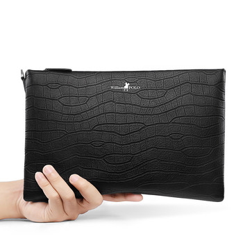 Luxury Brand Male Clutch Bag iPad Holder Envelope Bag With Straps P186118