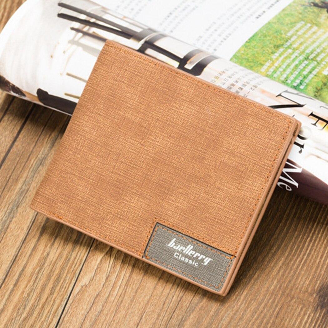 2018 Retro New Vintage Designer Men Leather Short Wallet Super Thin Slim Purse Card Holder Coin Pocket Male Small Wallets
