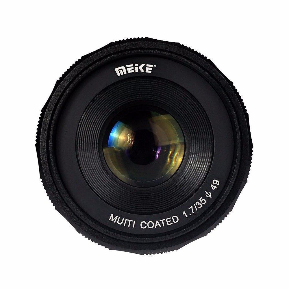 Meike MK-E-35-1.7 35mm f 1.7 Large Aperture Manual Focus lens APS-C For Sony E Mount cameras NEX7 a6300 50mm f2 0 aperture manual focus lens aps c for eosm nikon1 m43 sony e mount nex3 5t 6 7 a5000 a6000 a6300 fuji xt1 camera