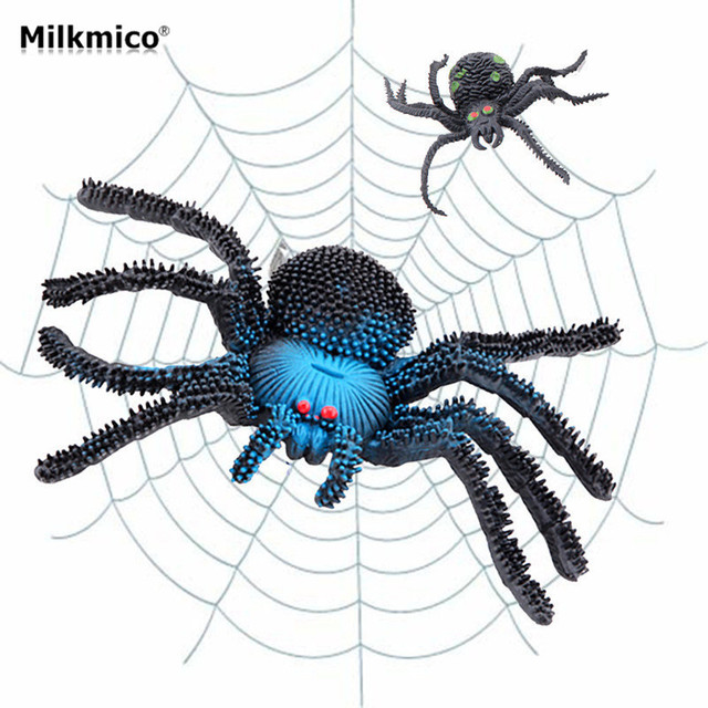 milkmico hot selling funny goofy fake animal spider halloween decoration props the simulation of spyderco cosplay - Spider Halloween Decoration