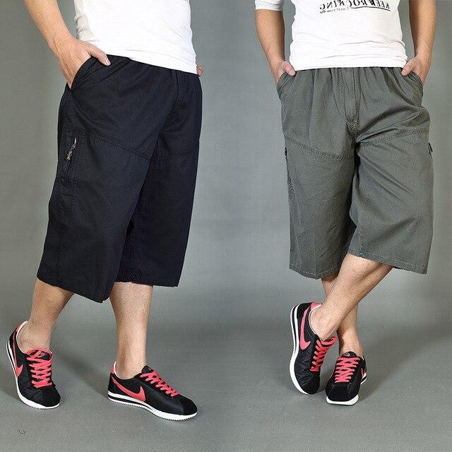 Повседневные мужские бриджи больших ярдов tru комбинезоны 7 укороченные брюки для отдыха Шорты человек штаны