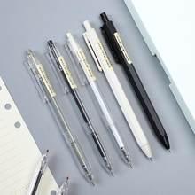 1pc 0.35mm 0.5mm aleatório estilo simples gel caneta tinta preta para estudante escrita caneta neutra imprensa material escolar kawaii