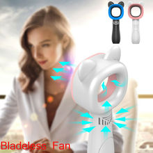 360 Degrees Portable Bladeless Hand-Held Cooler Mini USB No Leaf Handy Fan New