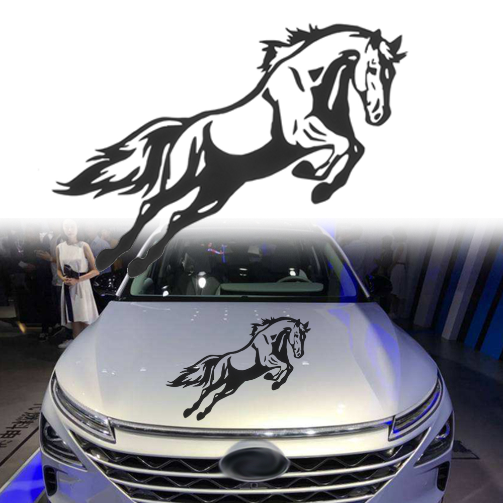 1Pc Running Horses Car Vehicle Self-Adhesive Sticker Waterproof Decal Decor PET