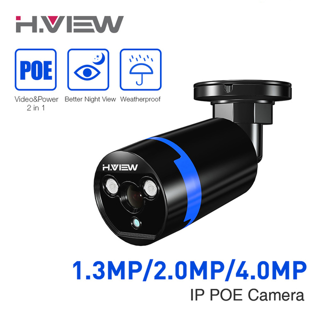 1080P IP Camera CCTV Camera 4.0MP POE Surveillance Cameras 2.0 MP Onvif Bullet Cam iPhone OS Android Easy Remote Access