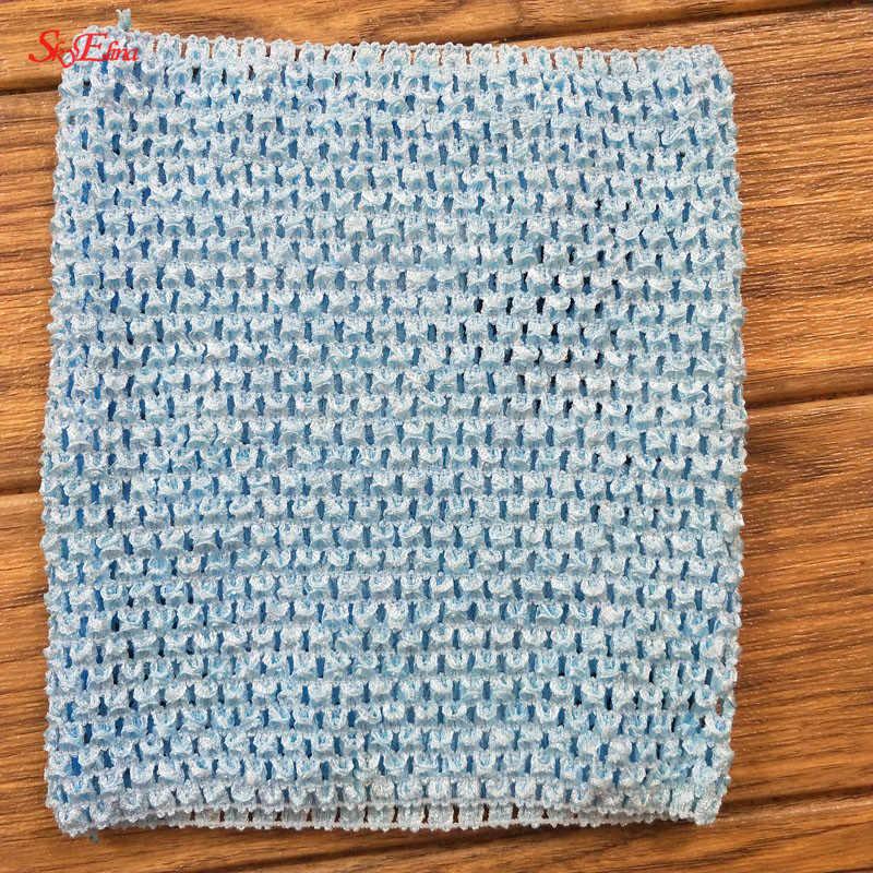 20*23 см, Детские эластичные вязаные крючком топы ручной работы для маленьких девочек, широкая фатиновая юбка, платье, материал 5Zsh939
