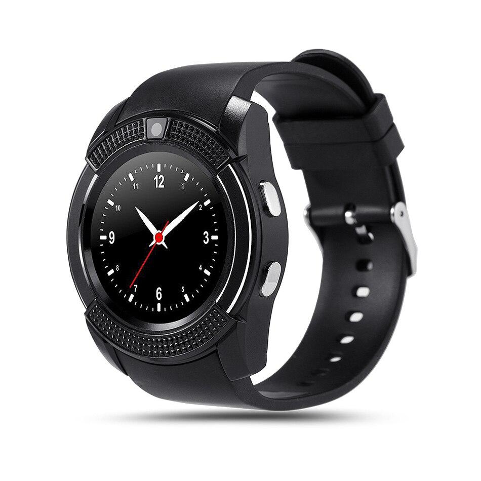 V8 tf tarjeta sim podómetro sleep monitor de smart watch cámara mtk6261d smartwa