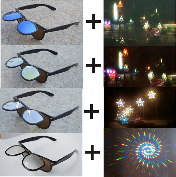 Classic Flip Up  Diffraction Glasses With Heart Diffraction Glasses