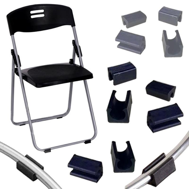 4pcs/lot Non-slip Furniture Leg Pads Plastic Chair Leg Caps Sock Stool Anti-front Tilt U-shaped Tube Rear Pad 25mm Pipe Clamp