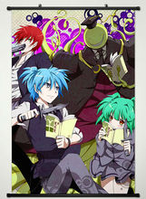 Wall Scroll Poster Fabric Printing for Anime Assassination Classroom Key Roles