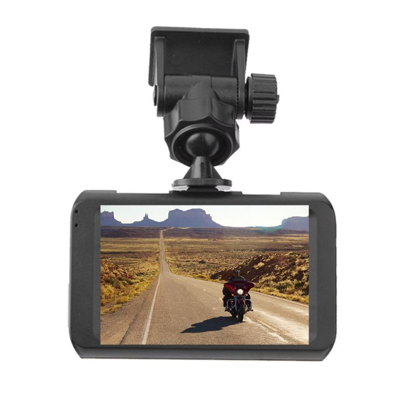 3in Motorcycle DVR Camera Video Recorder Front+ Rear View G-sensor Dash Cam