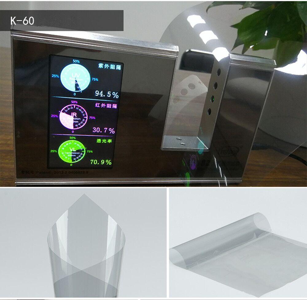 152 cm * 2000 cm 60% VLT Nano céramique Film fenêtre teinte voiture résidentielle véhicule fenêtre autocollant 99% rejet UV