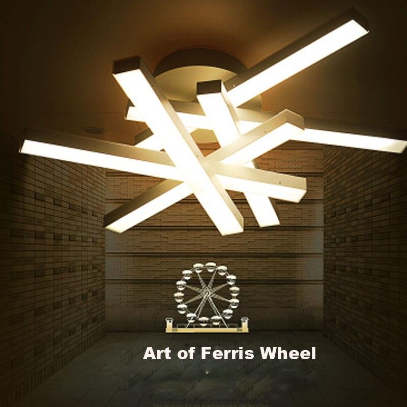 Moderne LED Acryl Deckenleuchte Riesenrad Kunst Abnormitt Chip Persnlichkeit Leuchte Warme Ssse Haus Restaurant Lampen