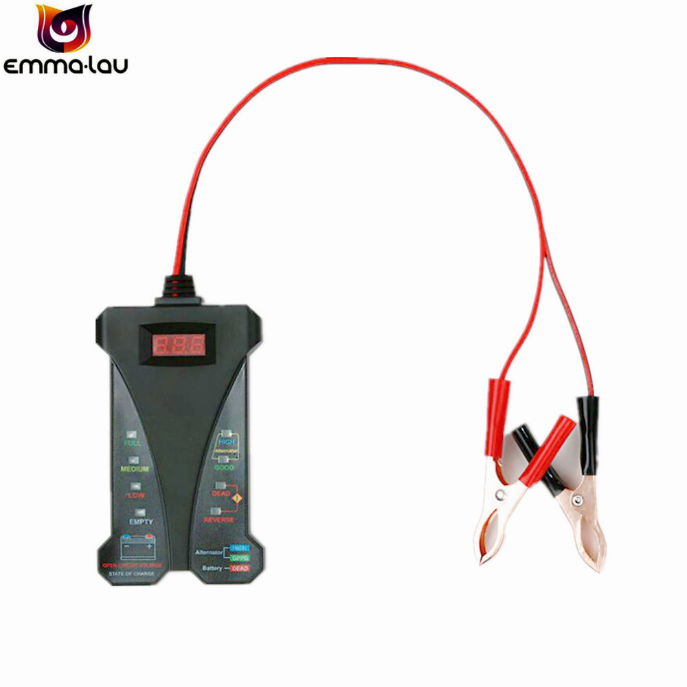 12v Digital Led Display Battery Tester Smart Alarm Voltmeter Alternator Charge Wirebatteryselectorswitchjpg Charging Analyzer With Clips For Car Motorcycle In Testers From