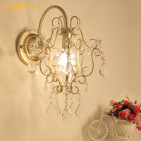 American Crystal Sconce Living Room Bedside Wall Lamp Mirror Light Modern Corridor Aisle Bedroom Crystal Wall Light Fixture