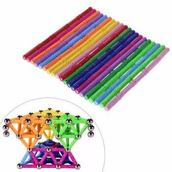 100 pçs/set educacional magnético blocos de construção brinquedos diy educacional empilhamento magnético construção presente brinquedos