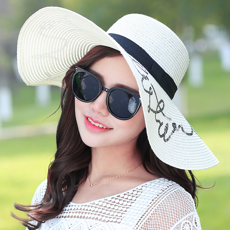 927f74b69bfbb Women s beach hats Caps 2017 Summer Fashion Foldable Chiffon Floppy Sun  Hats Casual Ladies sombreros bowknot hat Ladies-in Sun Hats from Apparel  Accessories ...