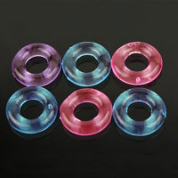 10Pcs/lot Flexible Glue Cock Ring Circle Soft Silicone Cock Rings For Men Delayi