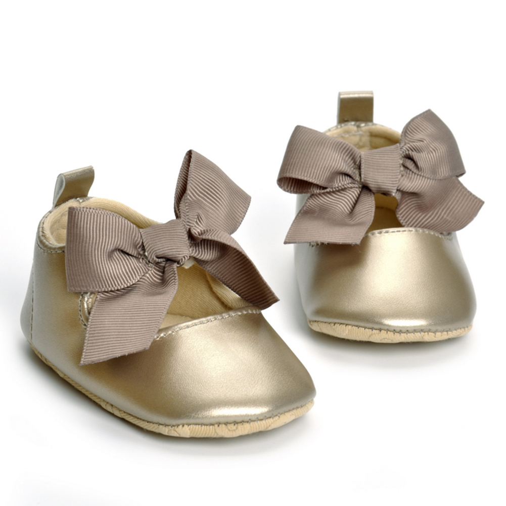Bowknot Baby Shoes Spring Soft Bottom PU Anti-slip Sneaker PU Leather Toddler Newborn Boys Girls Shoes Moccasin