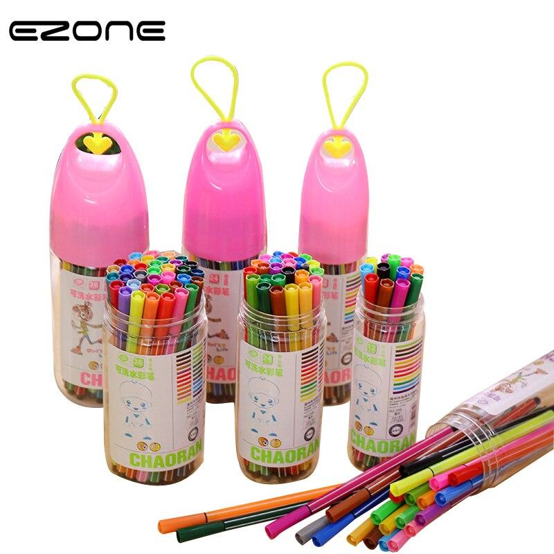 Children Painting 36//24//18//12 Non-toxic Color Washable Watercolor Pen Mark Paint