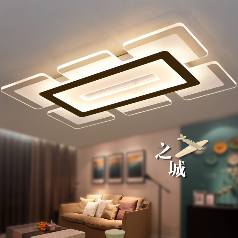 Aliexpress Buy Eusolis 110 220v Sky City Ultra Thin Transparent Led Ceiling Light Fixtures Lampadari Lamparas De Techo Wohnzimmer Lampe 32 From
