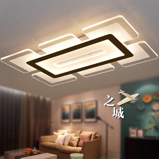 Eusolis 110 220v Sky City Ultra Thin Transparent Led Ceiling Light Fixtures Lampadari Lamparas De