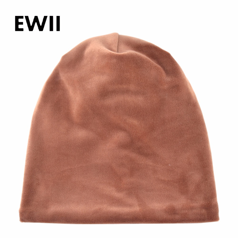 Solid winter hats for women   beanie   cap bonnet   skullies     beanies   girls knitted caps women casual velvet hat casquette femme