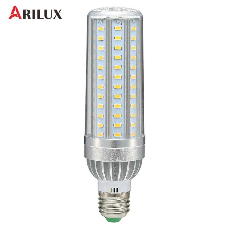 ARILUX SMD5730 E27 25W 35W 45W Light Bulb Cooling Constant Current LED Corn Bulb Aluminum Fan Cooling AC220V цена