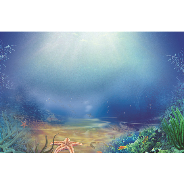 under the sea photography backdrop sunshine through blue water green