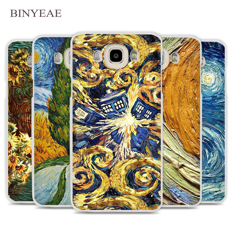 BINYEAE Van Gogh Tardis Cell Phone Case Cover for Samsung Galaxy J1 J2 J3 J5 J7 C5 C7 C9 E5 E7 2016 2017 Prime