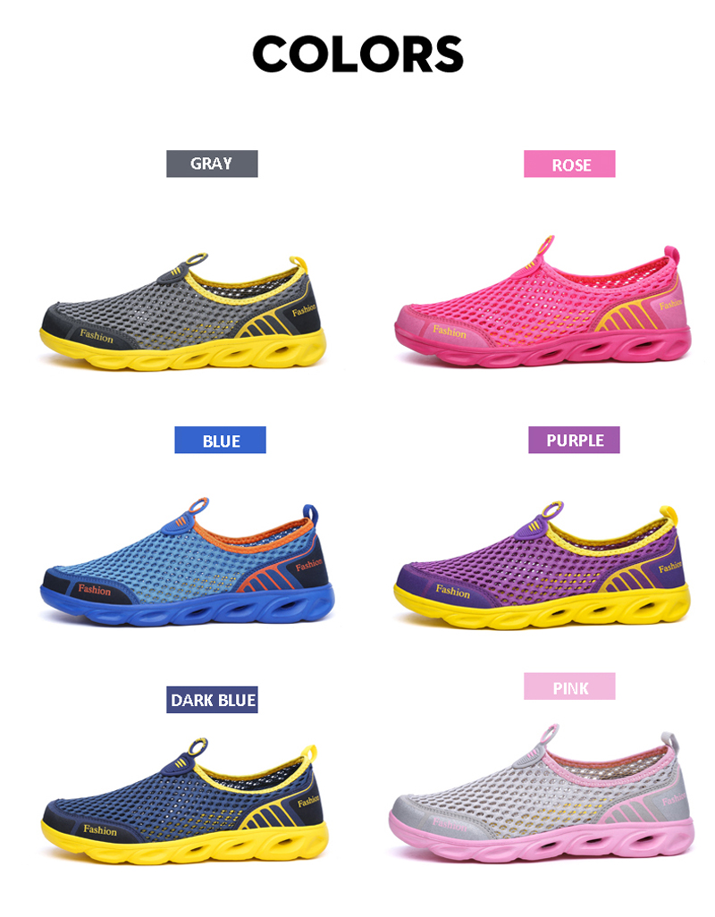 MAISMODA Summer Men/Women Breathable Light Weight Mesh Sneakers Healthy Walking Shoes Outdoor Antislip Sport Running Shoes 36-45