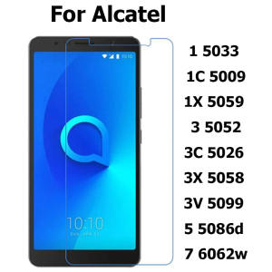 Tempered Glass For Alcatel 1 5033 1C 5009 1X 5059D 3 5052D 5 5086D 7 6062W 3X 5080Y 3V 5099D 3C 5026 Screen Protector Phone Film
