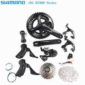Image 1 - Shimano 105 R7000 11 Speed Grouspet Korte Kooi Ss 11 28 Cassette HG601 Ketting Braze Op Racefiets Fiets upgrade Voor 5800
