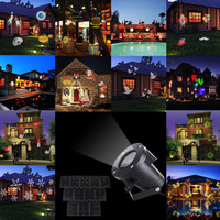 12 Patterns Christmas Laser Snowflake Projector Outdoor LED Waterproof Disco Lights Home Garden Star Light Indoor