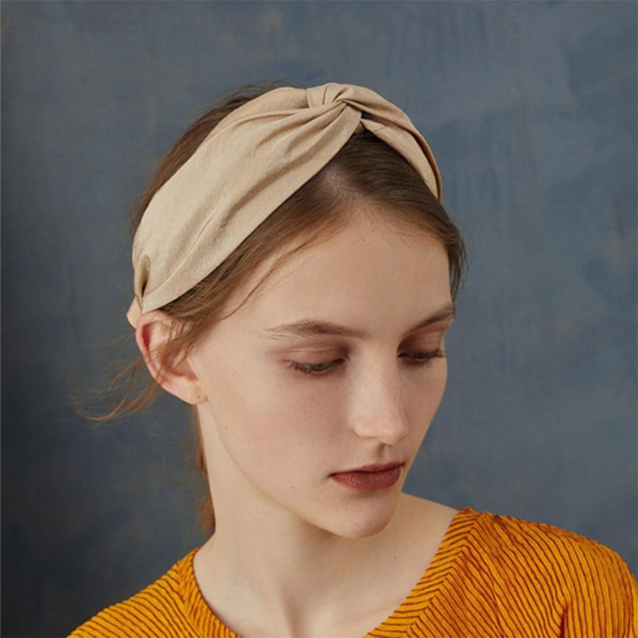 Colorful Cloth Cross Hairband Headband Turban for Women Lady Wide Hair Hoop Band
