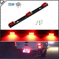 (1) Red 3-Lamp Truck/Trailer ID LED Light Bar For Ford F150 F250 F350 Dodge RAM 1500 2500 3500 Chevy Silverado, GMC Sierra, etc