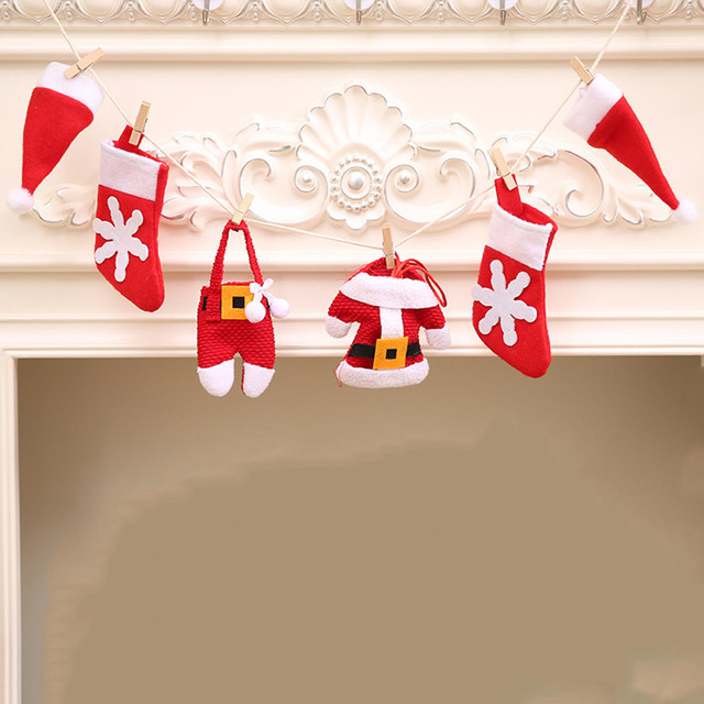 Hanging Christmas Decorations Diy.Us 2 49 2018 Hanging Christmas Ornaments Pull Flag Garland Fireplace Xmas Diy Flag Noel Christmas Decorations For Home Outdoor Tree In Pendant