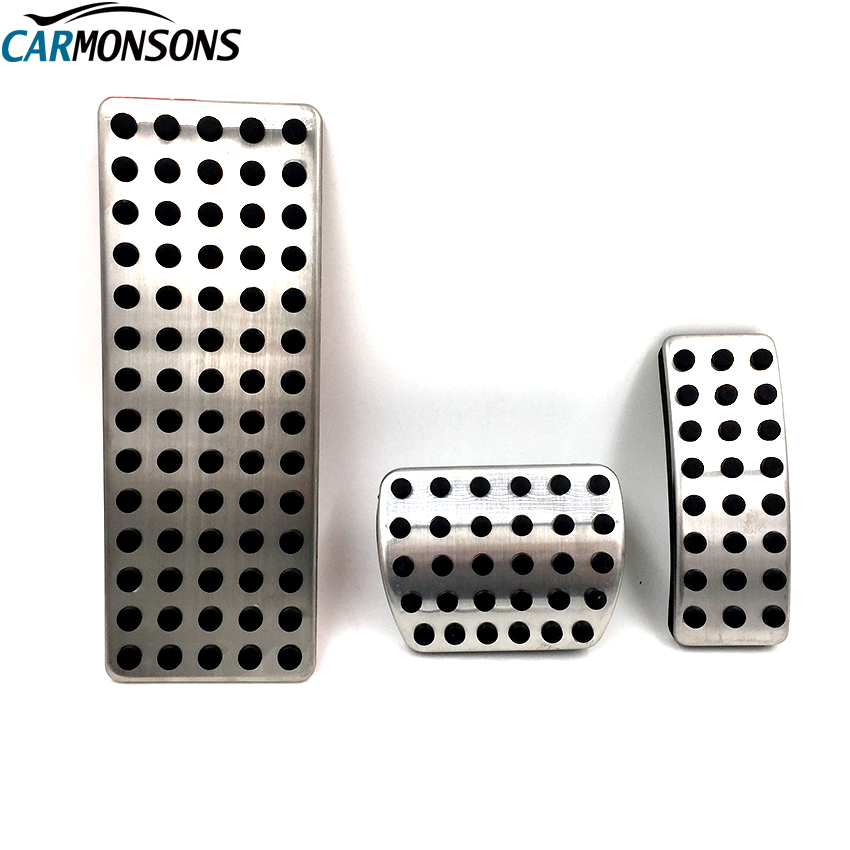 Carmonsons Stainless Steel Brake Gas Fuel Foot Rest Pedal Pads Cover for Infiniti Q30 QX30 2016+ Accessories Car Styling