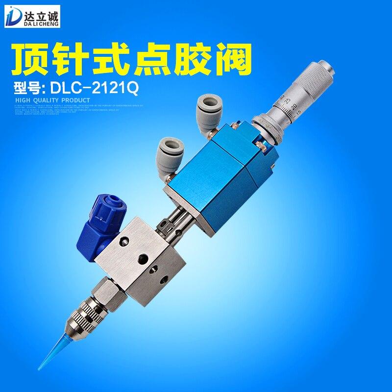 2121Q Micrometro Ditale di Precisione Valvola di Valvola di Erogazione di Colla, Colla UV, Alcool Inchiostro, Resistenza Alla Corrosione