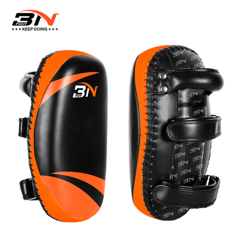 1 Piece BN Grand Boxing Training Kicking Pads Muay Thai Twins Punching Pads Training MMA Gym Fitness Equipment Sparring Target jduanl 1pc left right thick leg support boxing pads muay thai mma legs guards protector trainer combat sanda karate training deo