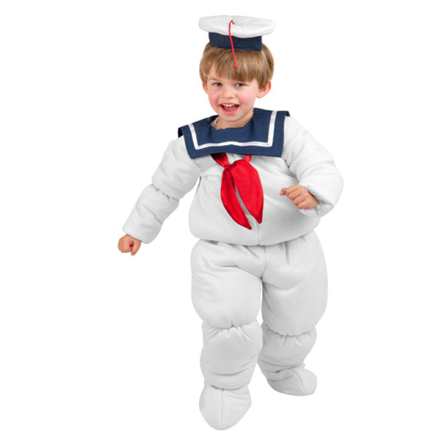 child ghostbusters stay puft marhmallow cosplay costume boys ghost sailor halloween fun suit