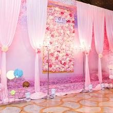 flower wall silk rose artificial flowers wedding decoration High quality 40x60cm romantic for wedding background decoration стоимость