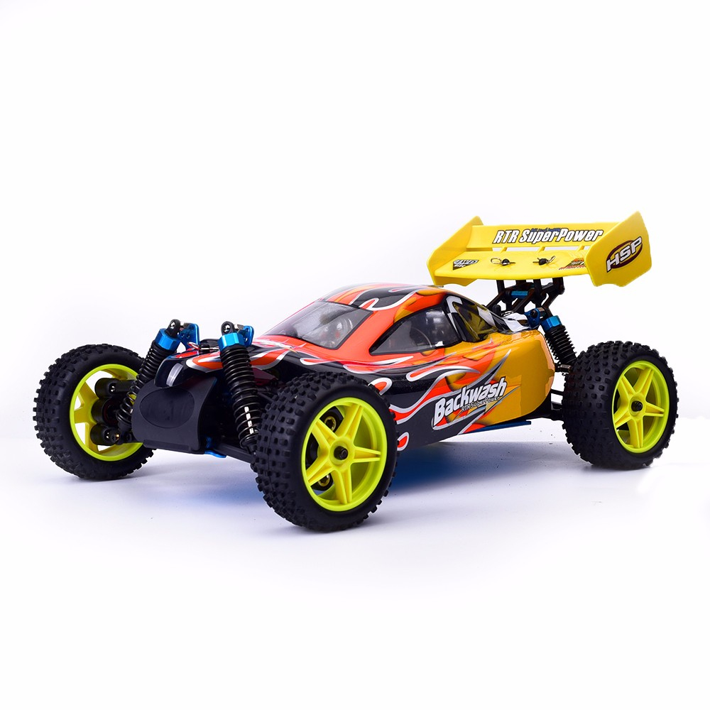 HSP Rc Car 1/10 Off Road Buggy 94166 Backwash Nitro Gas Power Two Speed 4wd High Speed Remote Control Car цена