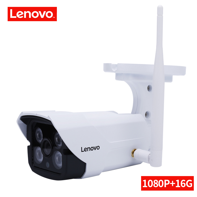 LENOVO Caméra de Surveillance ip caméra wi-fi 1080 P Intégré 16G CCTV Caméra de Sécurité Étanche Intérieure/Extérieure