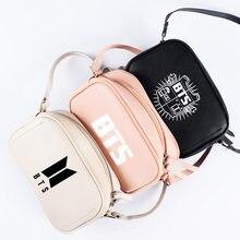 7263f8776224b KPOP BTS Bangtan Boys Aşk Yopurself Albümü Kadın postacı çantası Anime PU  Lady Crossbody Mini Kadın