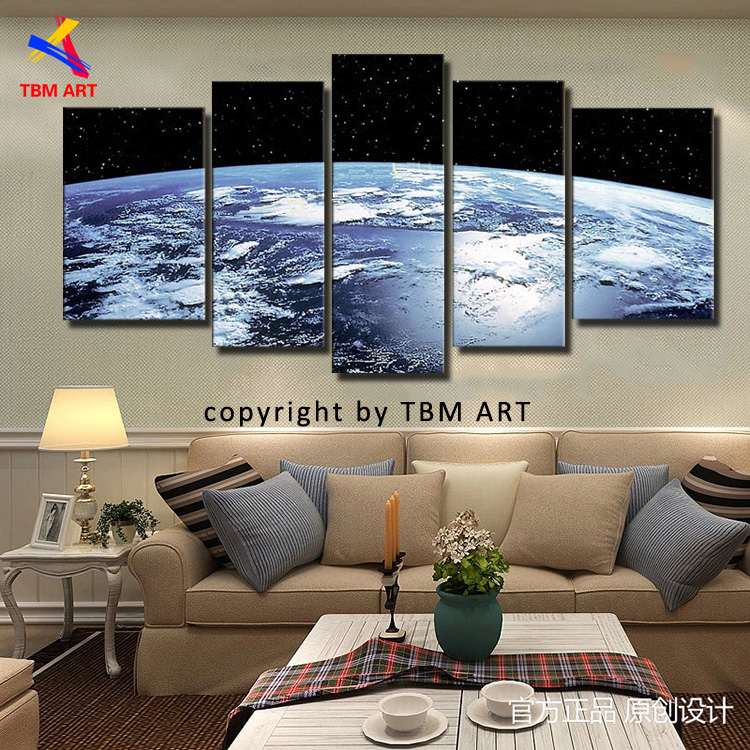 The Earth Map Picture Canvas Painting Handmade Modern Abstract Oil Painting on Canvas Wall Art Gift  No Framed JYJLV287