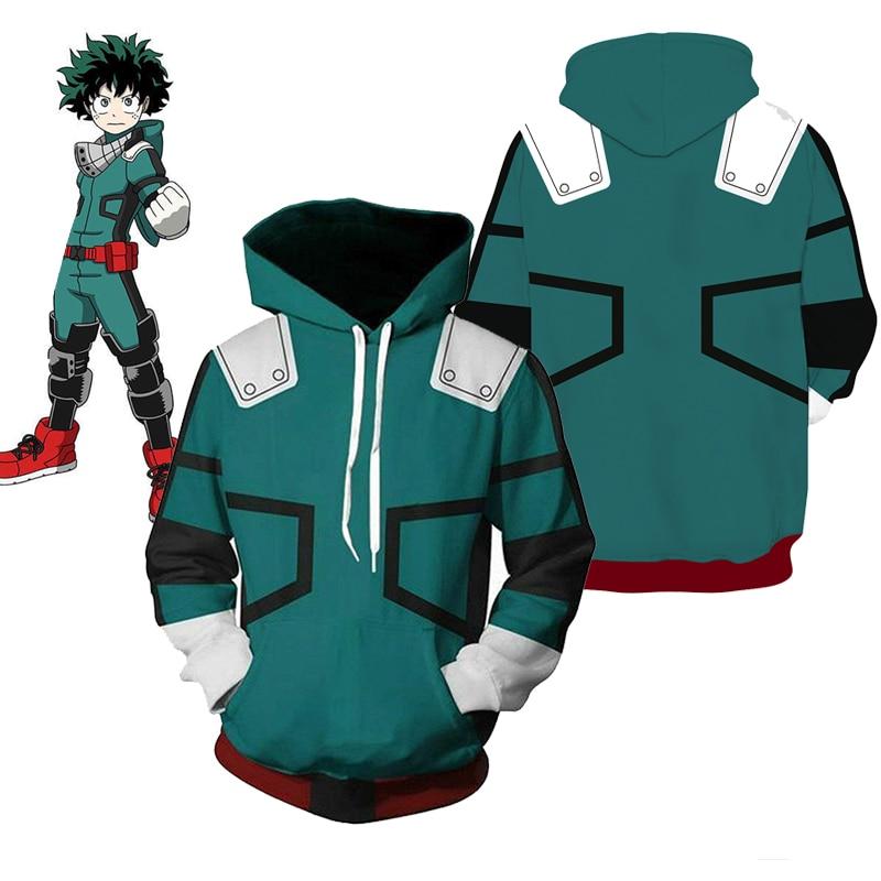 My Boku no Hero Academia Hoodie Sweatshirt Midoriya Izuku Deku Battle Costume