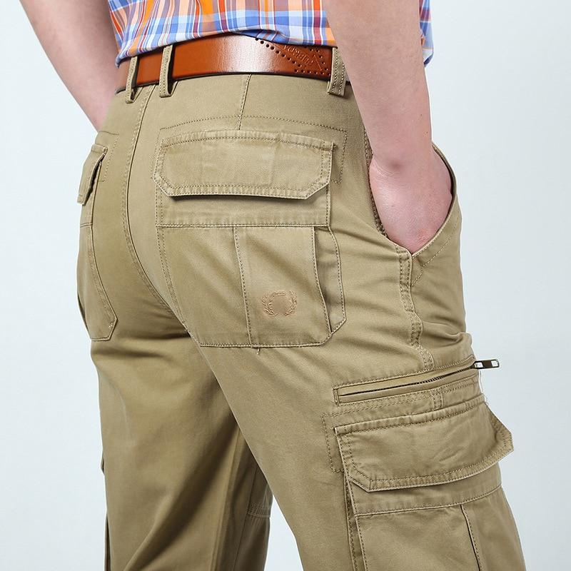 2018 신형 AFS ZDJP 남성용 카고 바지 남성용 바지 얇은 - 남성 의류 - 사진 3