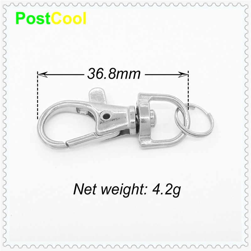 1 Pcs ทองเงินโลหะทนทาน CarabinerLobster Clasps คลิปแยกแหวนสำหรับ Key Chain ตะขอฤดูใบไม้ผลิ Key แหวน